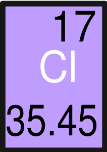chlorine atomic weight